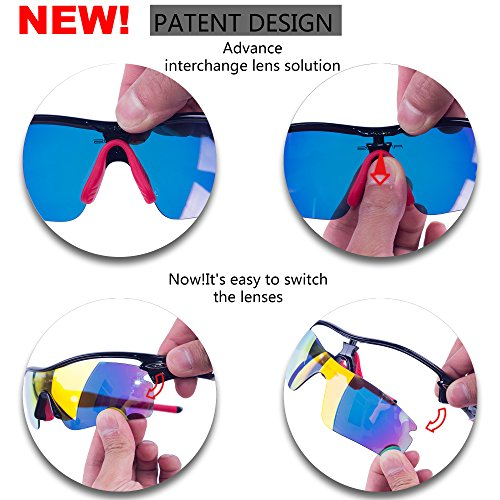 9860c4c78d RIVBOS 805 POLARIZED Sports Sunglasses with 5 Set Interchangeable Lenses  for Cycling - Buy Online in Oman.