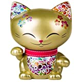 Mani the Lucky Cat Maneki Neko Fortune Cat Gold