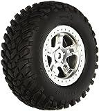 Traxxas 5973 SCT Off-Road Racing Tires Pre-Glued on Satin Chrome - Beadlock-Style Wheels