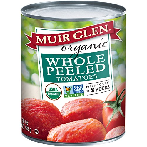 Muir Glen Canned Tomatoes, Organic Whole Peeled Tomatoes, No Sugar Added, 28 Ounce Can (Pack of 12) ()