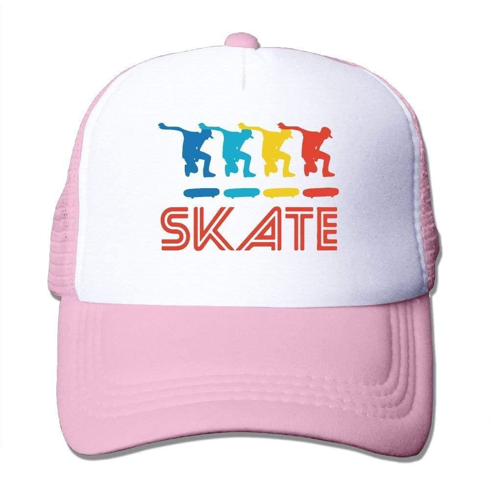 Skater Retro Pop Art Skateboarding Graphic Skate Mesh Trucker Caps//Hats Adjustable for Unisex Black JTRVW Cowboy Hats