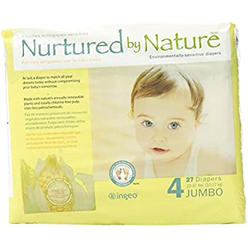 Nurtured by Nature Environmentally-Sensitive Diapers, Large Size 4, 27 count (Pack of  4)