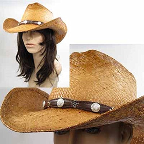 Unisex Adult Shapeable Western Cowboy Hat (Large - 23.25 in / 59 cm)