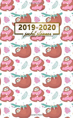 2019-2020 Pocket Planner: Two-Year Monthly Lazy Sloth Pocket Planner with Phone Book, Password Log and Notebook. Nifty 24 Month Agenda, Calendar and Organizer. (Best Colleges For Students With Learning Disabilities 2019)