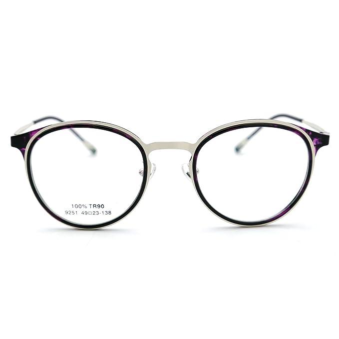 65e76f83f0 Amazon.com  Natwve Co Stainless Designer Optical Frame Glasses for ...