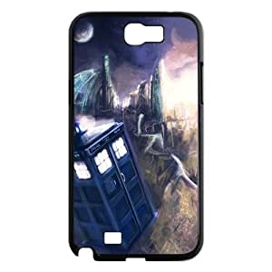Doctor Who Tardis Police Box Galaxy Note 2 Case Hard Plastic Doctor Who SamSung Galaxy Note 2 N7100 Cover HD Image Snap ON