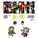 ABG TOYS LOZ 1405 / 1407 MARVEL DC COMICS Mini Block Building Toy Brickheadz Series