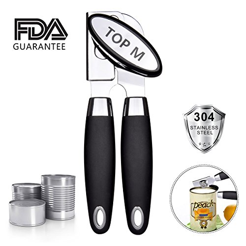 Can Opener,Can Opener Manual Food-Safe FDA Stainless Steel, NO-Rust, Ergonomic Anti Slip Design Big Knob For Easy Turn,Home Restaurant Smooth Edge Can Opener Can Openers Suitable For The Elderly (A) by TYHRIO