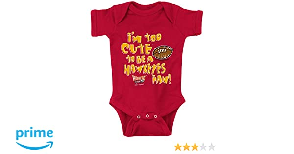 Smack Apparel Iowa Football Fans Im Too Cute to be a Cyclone Fan NB-4T Black Onesie or Toddler Tee