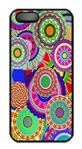 Covers Colorful Diamonds Background HAC1014110 Custom PC Hard Case Cover for iPhone 5/5S Black