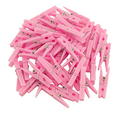 lothespins Small Clothespins Favors - Party Game 48pc (Pink) ()
