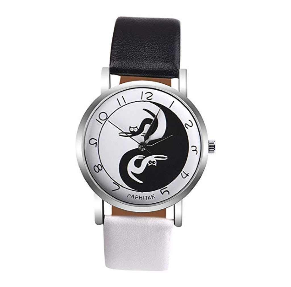 Limpieza de venta! Relojes para mujer, ICHQ Relojes de cuarzo con patrón de gato para mujer, relojes de pulsera baratos: Amazon.es: Hogar
