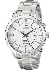 Seiko Mens SUN037 Analog Display Analog Quartz Silver Watch
