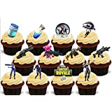 12 x Fortnite Dancing Dancers Mix - Fun Novelty Birthday Premium Stand UP Edible Wafer Card Cake Toppers Decoration