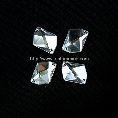 CRYSTAL GALATIC RESIN STONE FLAT BACK SEW ON OR GLUE ON SELLING PER PACK/72 PCS by TOP TRIMMING