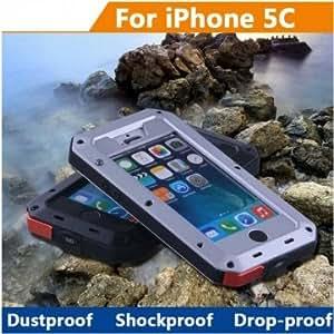 Aluminum Metal Waterproof Shockproof Case For iPhone 5C @ Color==Yellow