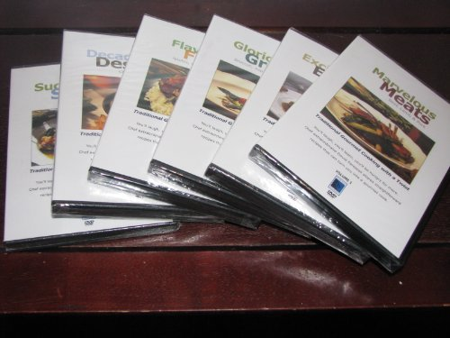 LEARN HOW TO COOK COOKING LOT: 6 VOLUME SET MEATS SEAFOOD DESSERTS by David Forestell