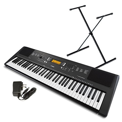 762a6fd7faa Yamaha PSR-EW300 SA 76-Key Portable Keyboard Bundle with Stand and Power  Supply