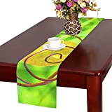 QYUESHANG Insect Metal Solar Light Design Nature Art Table Runner, Kitchen Dining Table Runner 16 X 72 Inch For Dinner Parties, Events, Decor