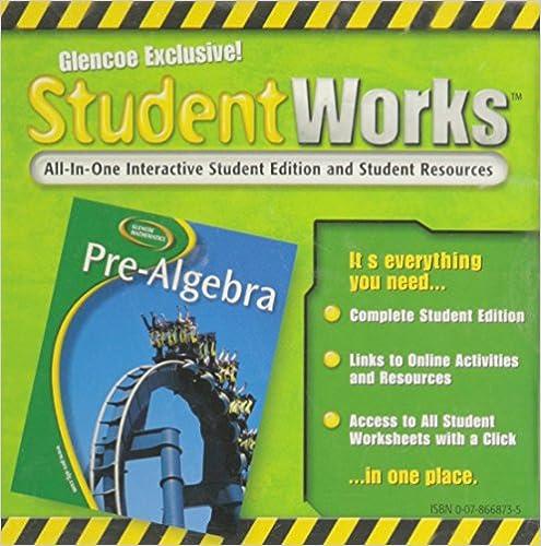 Amazon.com: Glencoe Pre-algebra, Student Works Cd-rom ...