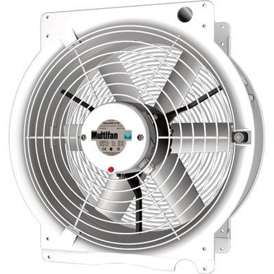 Multifan 16in. Q Greenhouse Fan - 3350 CFM, 1/3 HP, 120 Volt, Model Number T4E40K4M81100 by Multifan