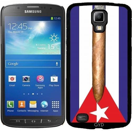 Funda Carcasa Cubierta de PU Cuero para Samsung Galaxy S7 Edge (SM-G935) - Bandera De Cuba Cigarro by hera56 Plástico rígido