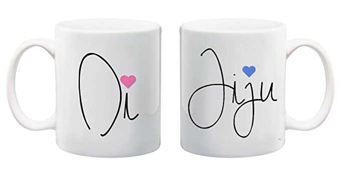 Buy di and jiju couple mugs pair : couple gifts for anniversary by