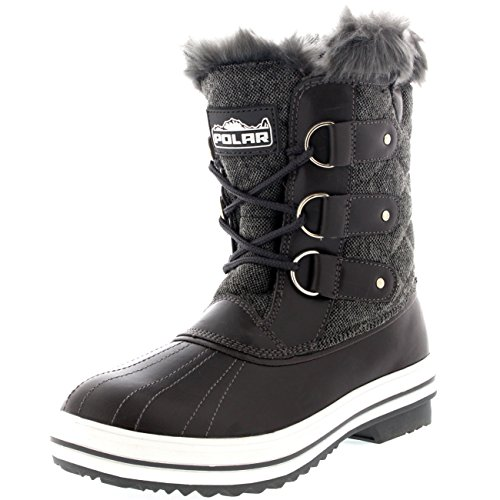 Womens Snow Boot Quilted Short Winter Snow Rain Warm Waterproof Boots - 8 - GRT39 YC0036 (Winter Quilted Boots)
