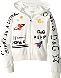 Dolce & Gabbana Kids Girl's Hooded Cardigan (Big Kids) Graffiti Print 12