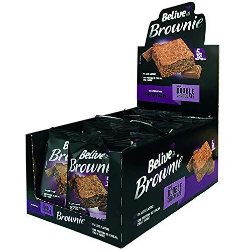 Protein Brownie Double Chocolate Sem glúten Sem lactose Belive Display com 10 unidades de 40g