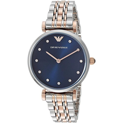 Emporio Armani Women's 'Dress' Quartz Stainless Steel Casual Watch, Color:Silver-Toned (Model: AR11092)