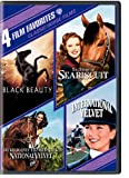 4 Film Favorites: Classic Horse Films (Black Beauty, National Velvet, International Velvet, The Story of Seabiscuit)