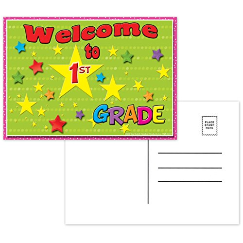 """Top Notch Teacher Products TOP5117 Welcome to 1st Grade Postcards, 4.1"""" Wide, 6"""" Length, 0.4"""" Height (30 per Package)"""