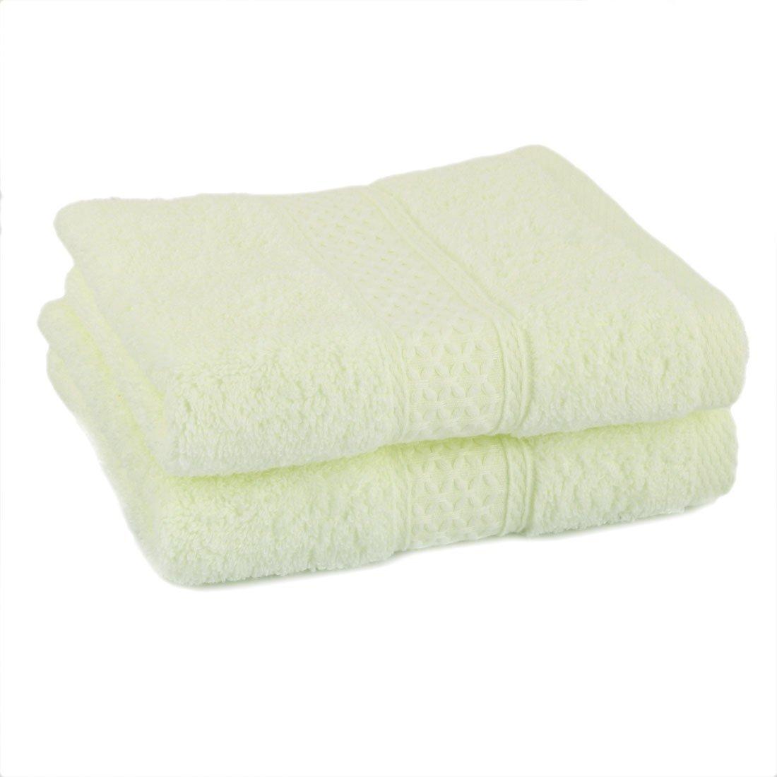 Amazon.com: eDealMax 100% Algodón Mezcla Inicio Baño Suavidad absorbencia DE 3 piezas de toallas conjunto de bandas de la luz ámbar: Home & Kitchen