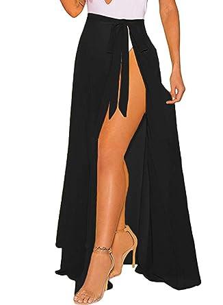 273facba61 LIENRIDY Women's Swimsuit Cover Up Summer Beach Wrap Skirt Swimwear Bikini  Cover-ups Black Long