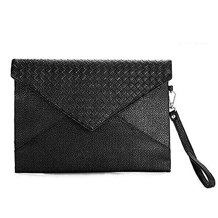 ac1fd5ab676b Image Unavailable. Image not available for. Color: 2018 Fashion Men Leather  Envelope Clutch Business Document Handbag Women Wallet Evening Bags ...