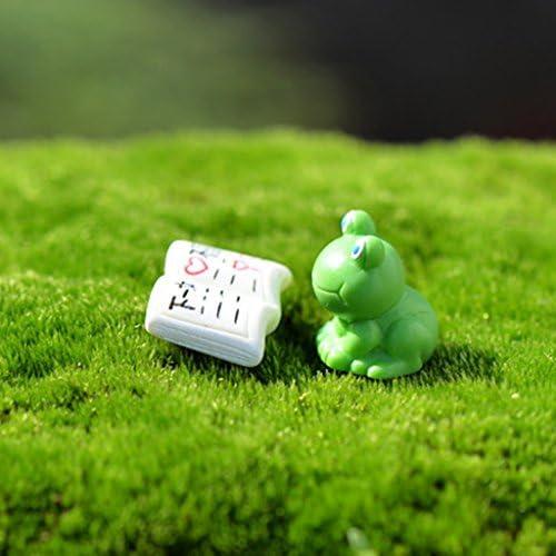 FLAMEER 10ピース/個ミニチュアフェアリーガーデンマイクロランドスケープドールハウス盆栽ブックデコレーション英字