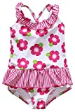 Sociala 6-9 Month Girl Swimsuit One Piece Bathing Suit Swimwear for Girls 6/12M