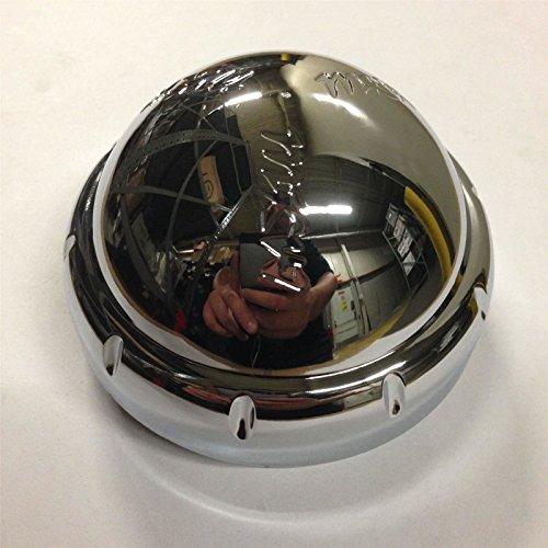 MKW Wheel Rim Threaded Chrome Center Cap C607901-CAP TL (Chrome Rim Center Caps)