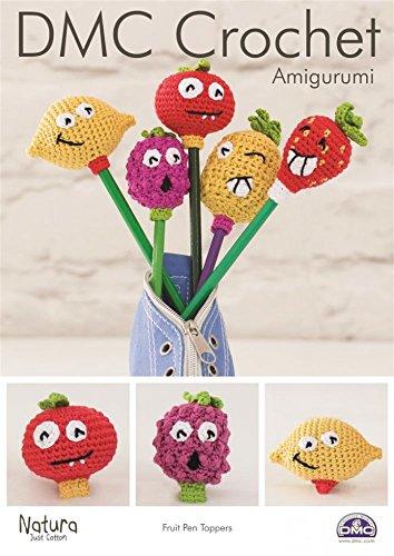 DMC Fruit Pen Toppers Amigurumi Natura Crochet Pattern 4 Ply