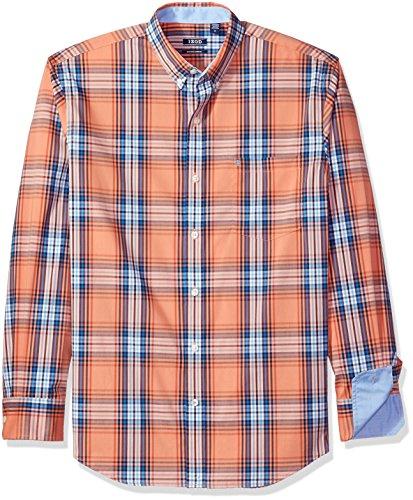 IZOD Men's Advantage Performance Non Iron Stretch Long Sleeve Shirt, Tawny Orange, X-Large (Tawny Apparel)