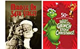 Miracle on 34th Street (B&W) & How the Grinch Stole Christmas 50th Anniversary Deluxe Edition 2-DVD Christmas Bundle