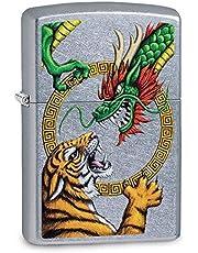 Zippo, effen, winddichte aansteker, tijgerdraak chroom, normaal