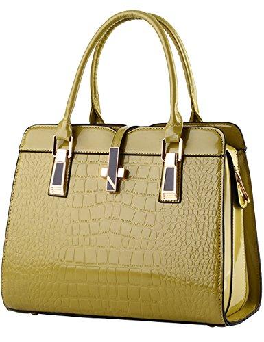 Menschwear sac fourre-tout en cuir brillant nouveau sac à bandoulière rouge pour dames