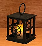 Made in USA Ship Wheel Themed Steel Candle Lantern