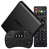 EASYTONE T95X 4K Newest Android 6.0 Google Internet TV Box Amlogic S905X Kodi 16.1 Fully Loaded 64 Bits H265 Xbmc Pre-installed Quad Core HDMI Netflix Streaming Media Player with I8 Wireless Keyboard