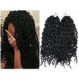 Wigbuy 20'' 5packs Soft Dreadlocks Crochet Braids Kanekalon Jumbo Dread Hairstyle Synthetic Braiding Hair Extensions Crochet Braiding Hair 20 Strands for Black Women (Wavy -20inches)