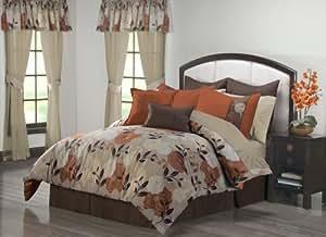 VCNY Hailey 24-Piece King Comforter Set, Spice
