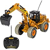 Best Choice Products 1:10 Scale RC Excavator Tractor Digger Construction Truck Remote Control Battery Powered Electric 6 Channel