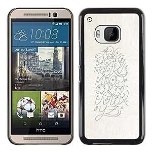 Ziland/Diseño delgado funda Shel/letras arte dibujo escritura/HTC uno M9